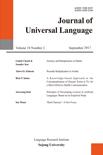 Journal of Universal Language