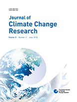 Journal of Climate Change Research Vol.9 No.2