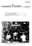 Developing Forum Vol.7, No.1