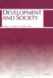 DEVELOPMENT AND SOCIETY Vol.27 No.2