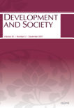 DEVELOPMENT AND SOCIETY Vol.30 No.2