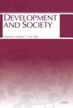 DEVELOPMENT AND SOCIETY Vol.35 No.1