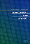 DEVELOPMENT AND SOCIETY Vol.39 No.2